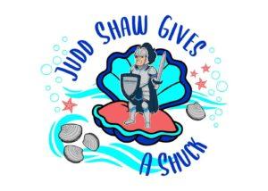 judd shaw gives a shuck logo